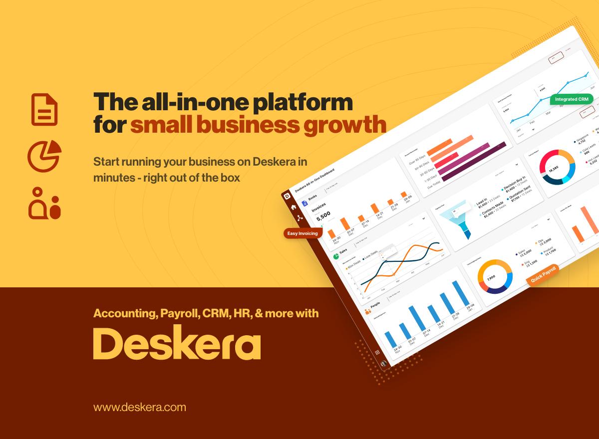 All In One Small Business Software   Deskera