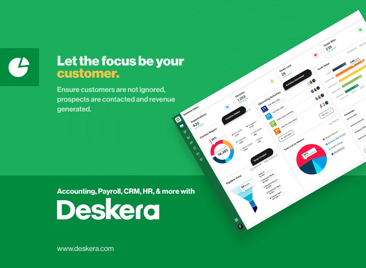 Deskera CRM: Online customer relationship management software