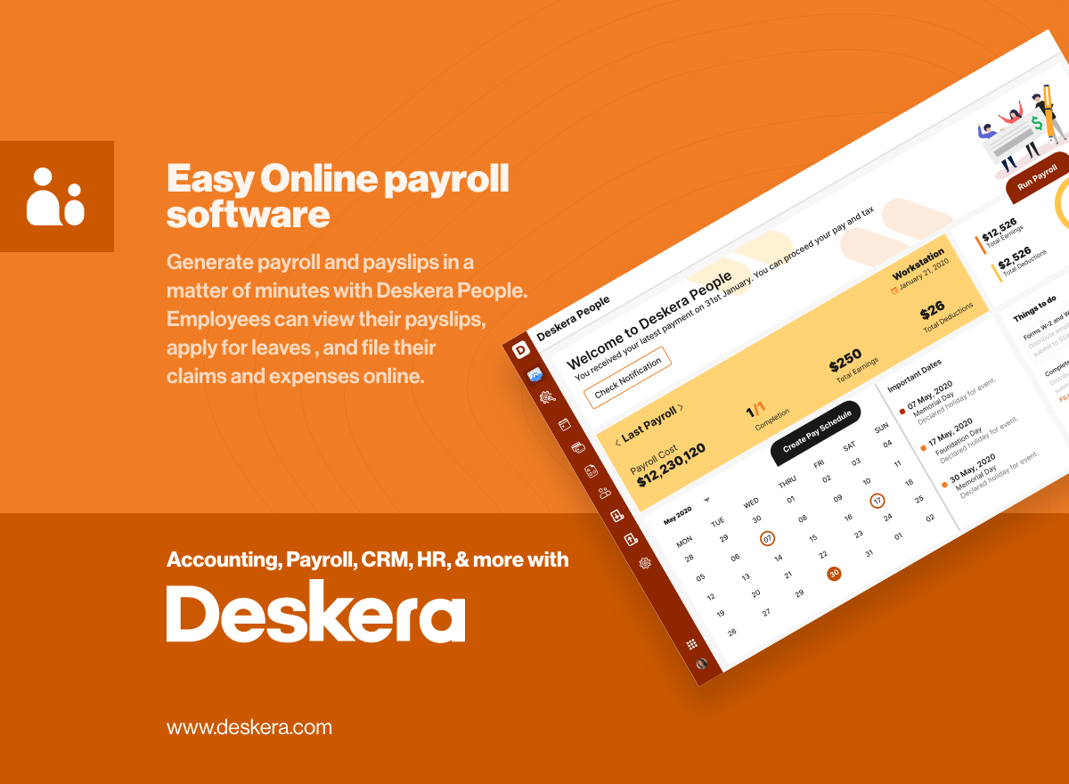 Online Payroll and HR Software for Small Business   Deskera
